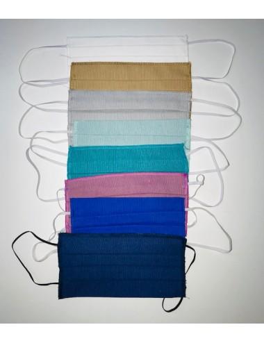 MASQUE EN TISSUS PACK DE 50 pcs avec couleurs