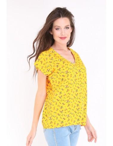 Pack 6x top femme jaune