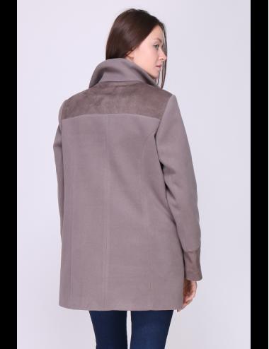 Manteau femme Laura Taupe