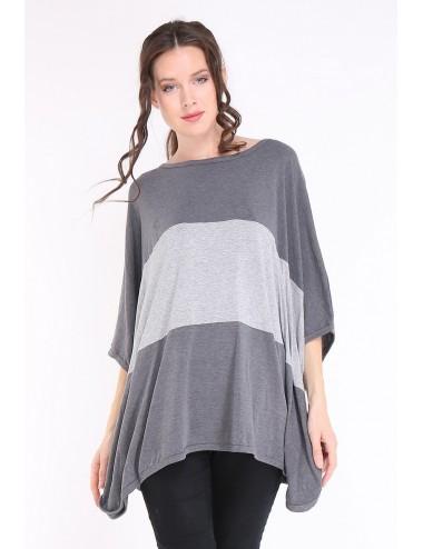 Pack 6x Tee-shirt poncho femme APAULA gris