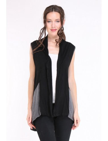 copy of Gilet GRANDE TAILLES femme Multiples PAULA noir/anthracite