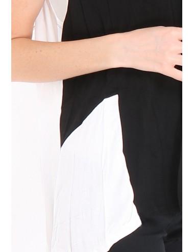 Pack Gilet femme PAULA noir/blanc, composition 95% viscose et 5% élasthanne.
