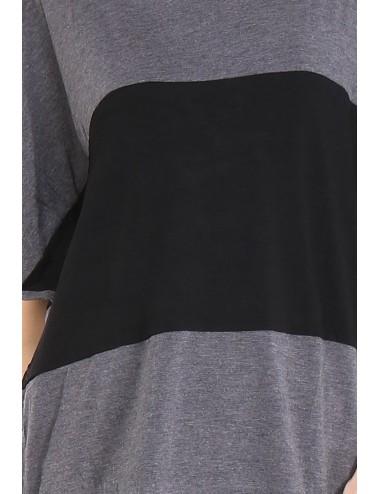 Tee-shirt femme TAPAULA gris.