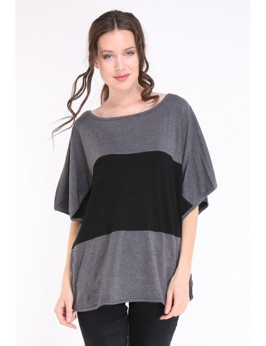 copy of Tee-shirt grande taille femme TAPAULA gris
