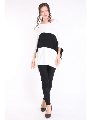 copy of Tee-shirt grande taille femme TAPAULA noir/blanc