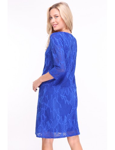 Robe Qayonacri bleu avec zip sur le devant,